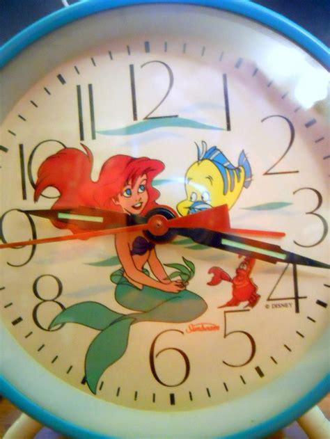 mermaid disney wind up alarm clock sunbeam princess ariel sebastian fish the