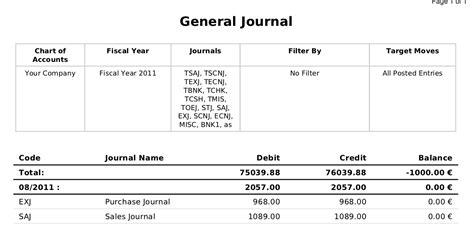 general journal excel template excel journal entry template
