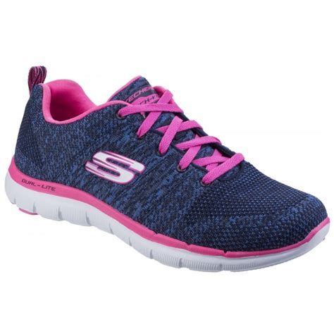 Skechers Flex Appeal by Skechers Flex Appeal 2 0 High Energy Navy Pink