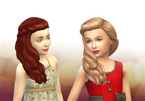 sims 4 girl hair braids mystufforigin long braid curled hair for girls sims 4