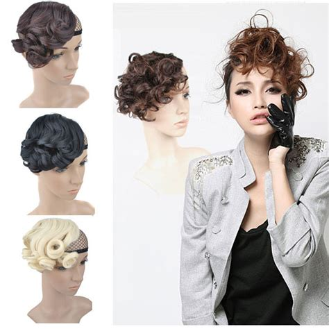 what kind of clip on hair for women with baldness on top of head fashion woman wavy curly bangs fringe hair clip in hair