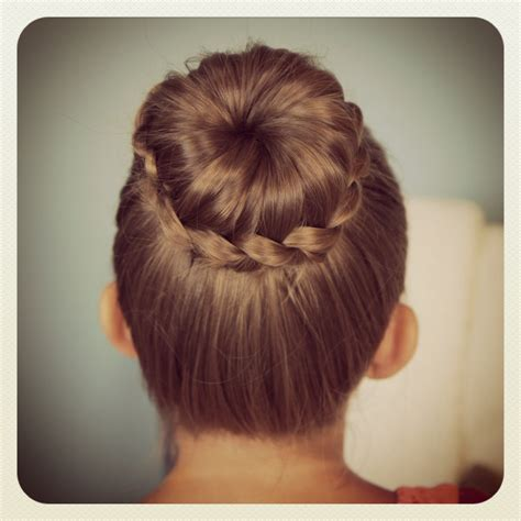 Braided Buns Hairstyles by Lace Braided Bun Updo Hairstyles