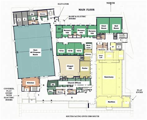 Church Fellowship Hall Floor Plans by Parking And Floor Plans Christ United Methodist Church
