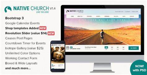 themeforest html templates responsive free download themeforest nativechurch download responsive html5 template