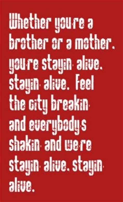 stayin alive bee gees bee gee s stayin alive song lyrics music lyrics