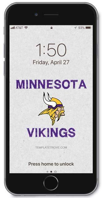 minnesota vikings lock screen schedule  iphone