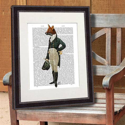 fox decor for the home fox print dandy fox by fabfunky home decor