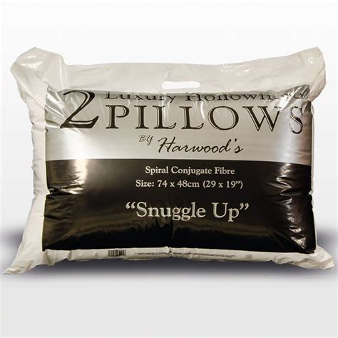 harwoods luxury hollowfibre pillows