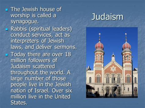 jewish house of worship the five major religions ppt video online download