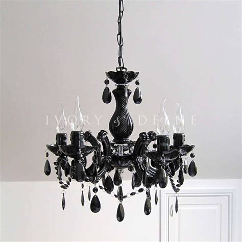 Black Chandelier Lighting by Black Chandelier Vintage Therese Glass 5