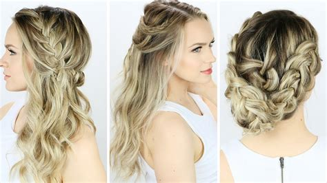 how to do hairstyles yourself 3 prom or wedding hairstyles you can do yourself youtube