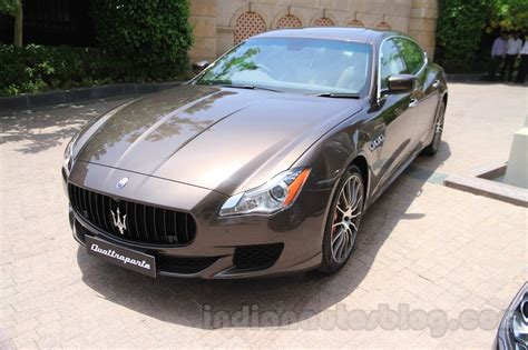 maserati india maserati quattroporte front quarter india reveal indian