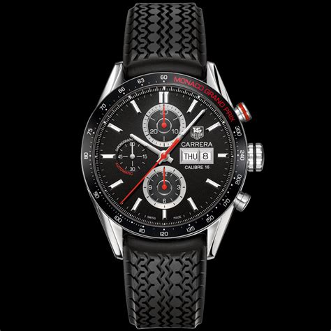 Tag Heuer Carera36 Rubber tag heuer calibre 16 day date automatic