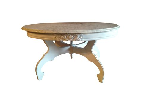 victorian marble coffee table chairish