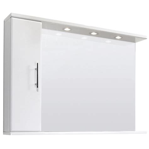 inset bathroom mirror illuminated high gloss white bathroom mirror vanity