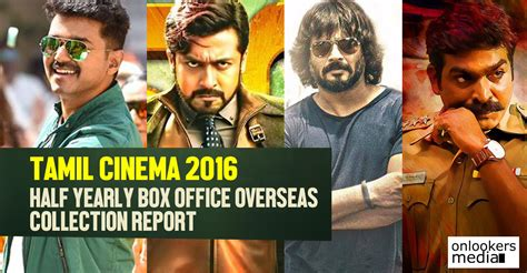 tamil film box office 2016 tamil cinema 2016 half yearly box office collection report