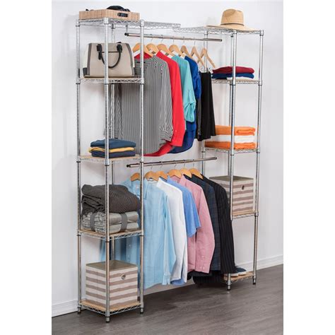 Chrome Closet Organizer by 84 In H Chrome Expandable Closet Organizer Tbfz