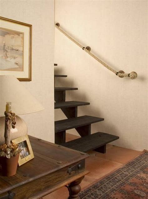 rope banisters for stairs decorative knots stylish home accents for modern interior