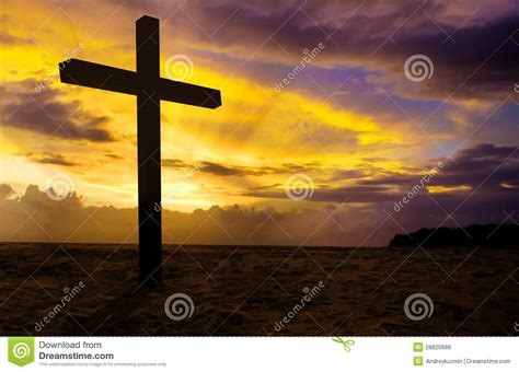 stock photos pictures royalty free christian cross on sunset stock photo image of almighty 28820686