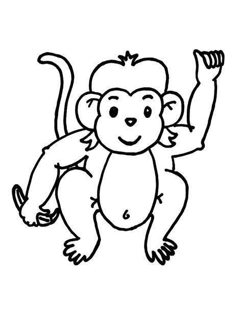 coloring page monkey hanging free printable monkey coloring pages for kids