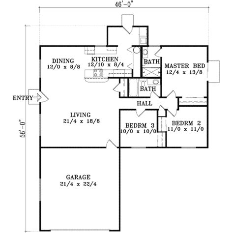 550 Square Feet Floor Plan by House 16628 Blueprint Details Floor Plans