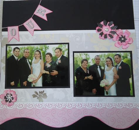 Wedding Album Scrapbook Layouts by Shannons Scrapbooks Amanda S Wedding Scrapbook Layouts