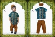 Dress Lengan Pendek Lucu Balita Anak Perempuan Umur 3 5 Thn jual setelan muslim baju koko anak laki laki hijau lengan
