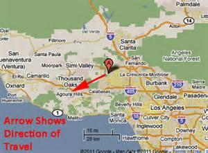 chatsworth california map sighting reports 2011