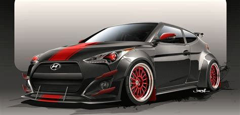 hyundai veloster turbo blacked out blood type racing hyundai veloster turbo