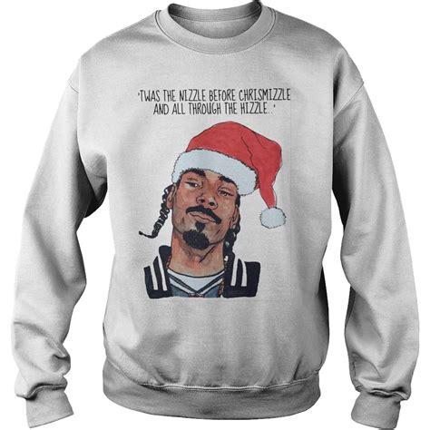 Tshirt Adidas Snoop snoop dogg twas the nizzle before christmizzle shirt