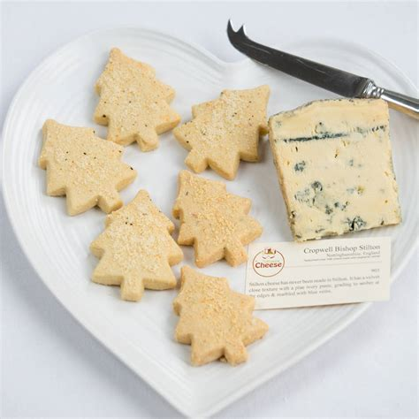 christmas savoury shortbread and stilton gift box by