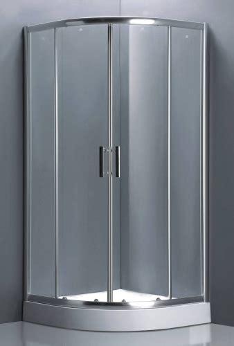 Aluminum Frame Curved Shower Enclosure Partial Frame W