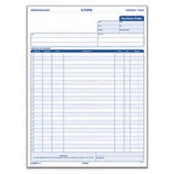 office depot brand purchase order forms 8 12 x 11 3 part