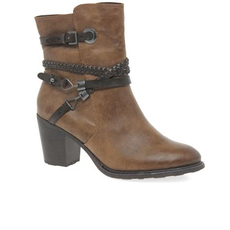 marco tozzi manks womens casual ankle boots from