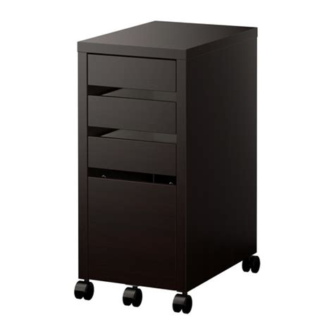 Black Office Drawers by Micke Drawer Unit Drop File Storage Black Brown