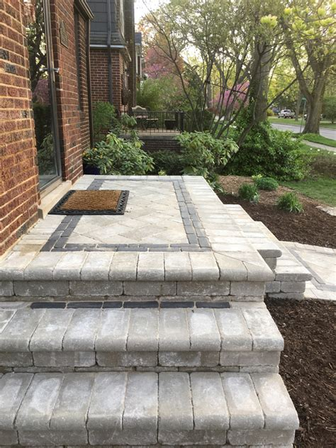 Front Patio Pavers Brick Paver Front Walkway Higher Ground Landscaping