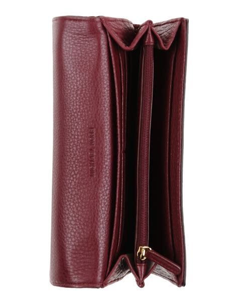 Dompet F Maroon Wallet michael kors wallet in purple maroon lyst