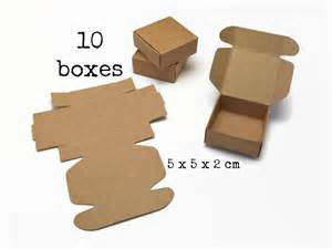 template for small gift box 10 small kraft paper box 5x5x2 cm mini tiny gift box
