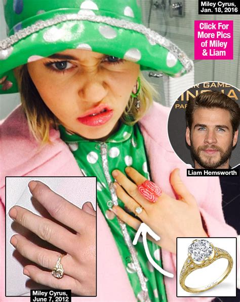 Wedding Bells About Miley Cyrus by Pic Miley Cyrus Engagement Ring From Liam Hemsworth