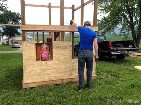 building a swing set from scratch diy playhouse swing set update part 2 reality daydream