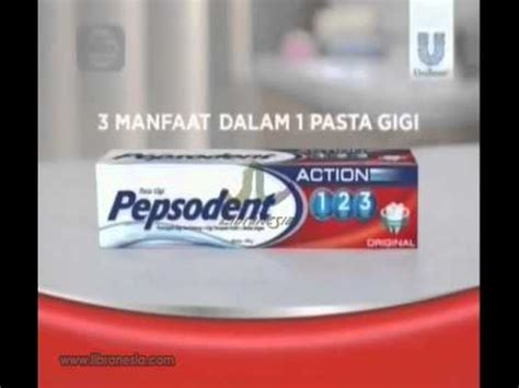 Pasta Gigi Pepsodent 123 iklan pepsodent 123 tiga manfaat dalam satu pasta