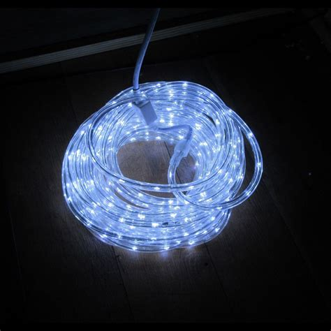 led rope light cool white festive lights