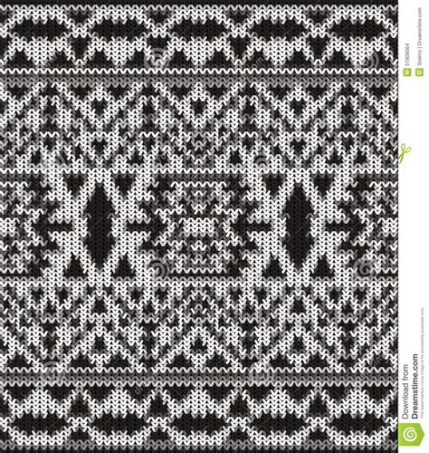 black and white knit pattern seamless knitted black and white navajo pattern stock