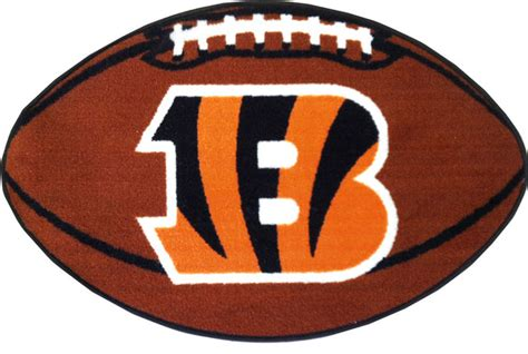 bengals rug nfl cincinnati bengals football accent shaped rug contemporary novelty rugs by obedding