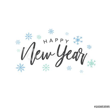 happy new year calligraphy vector text with colorful