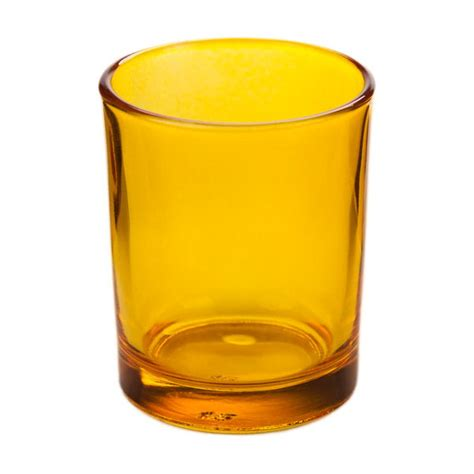 Rhinestone Vases Wholesale Yellow Glass Votive Candle Holder