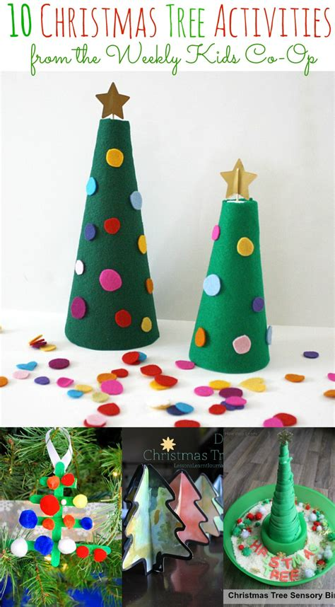 10 christmas tree activities and the weekly kids co op