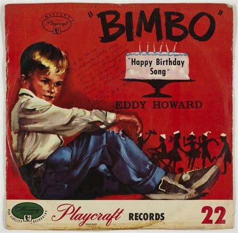 Birthday Records Record Bimbo Happy Birthday Song Playcraft Records 1957