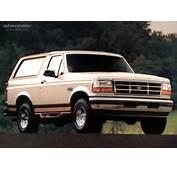 FORD Bronco Specs  1992 1993 1994 1995 1996