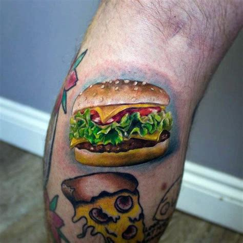 cheeseburger tattoo 90 food tattoos for delicious design ideas